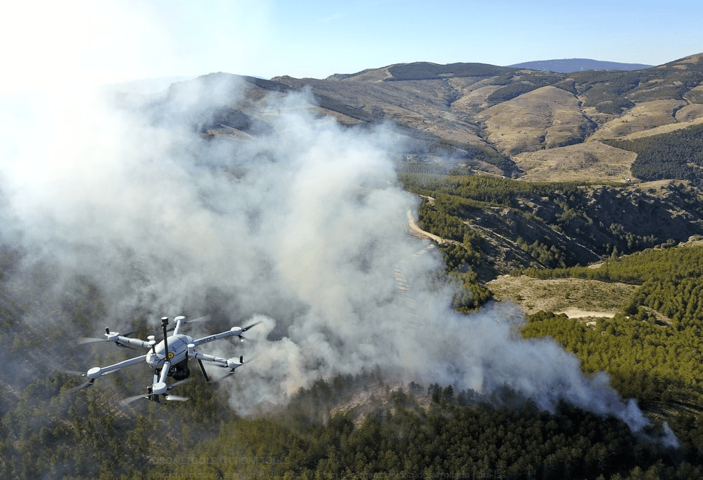 Seguretat amb dron - control d'incendis