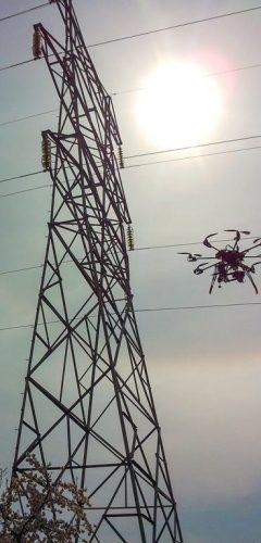 Inspeccions industrials amb dron - línies elèctriques